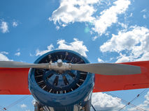 Detail of a Propeller Aircraft's Prop and Engine Stock Photography