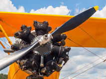 Detail of a Propeller Aircraft's Prop and Engine Royalty Free Stock Photo