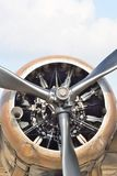Detail of propellor and engine Stock Photo