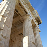 Detail of the Propylaea ,Acropolis Royalty Free Stock Images