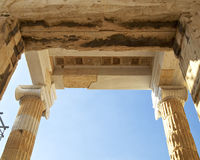 Detail of the Propylaea, Acropolis, Athens Greece Royalty Free Stock Images
