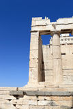 Detail of Propylaea of the Athenian Acropolis Royalty Free Stock Photos