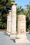 Detail in prospective of Roman columns Royalty Free Stock Photo