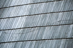 Detail of protective wooden shingle on roof Royalty Free Stock Photography