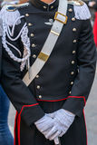 Detail of a protocol uniform of an Italian soldier Stock Image