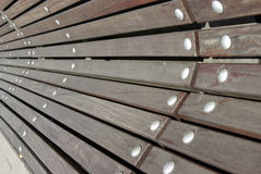 Detail of a public benc Stock Image