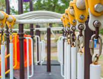 Detail of public playground Stock Image