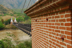 Detail of Puente de Occidente, Colombia Royalty Free Stock Photography