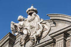 Detail on the Puerta de Alcalá in Madrid, Spain Stock Image