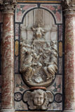 Detail of pulpit in Zagreb cathedral Stock Image
