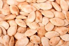 Detail of pumpkin seeds background Stock Photo