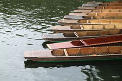 Detail of the punts Stock Photos