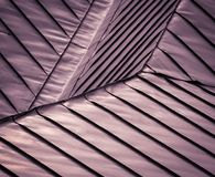 Detail purple steel roof Royalty Free Stock Photos