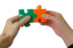Detail of a puzzle Royalty Free Stock Photography