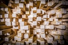 Qrd wood sound panel. Detail of qrd wood sound diffuser panel royalty free stock images