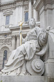 Detail on Queen Victoria Memorial outside St Pauls Cathedral, Lo Stock Image