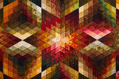 Detail of the quilt from diamond pieces Stock Photography