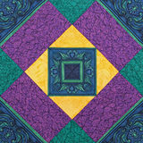 Detail of the quilt Royalty Free Stock Photo