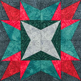 Detail of the quilt. From pieces of fabric royalty free stock photography