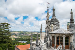 Detail of Quinta da Regaleira Palace Roof in Sintra, Lisbon, Por Royalty Free Stock Image