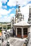 Detail of Quinta da Regaleira Palace Roof in Sintra, Lisbon, Por Royalty Free Stock Images