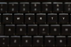 QWERTY keyboard. Detail of a QWERTY keyboard Royalty Free Stock Image