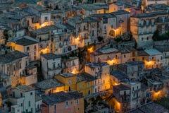 Detail of Ragusa Ibla at night. Detail of Ragusa Ibla in Sicily at night Royalty Free Stock Image