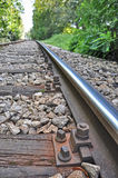 Detail of the rails Royalty Free Stock Image