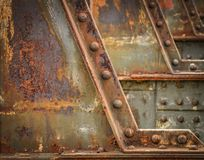 Detail of the railway bridge Royalty Free Stock Photo