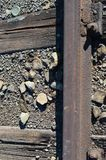 Detail of a railway stock photos