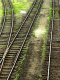 Detail of railway junction. Detail of old railway junction Royalty Free Stock Photos