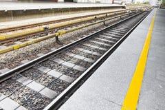 Detail of a railway line in Wien Stock Image