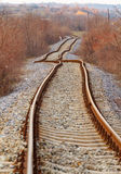 Detail of railway railroad tracks Stock Photos