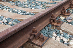 Detail of railway track Stock Image