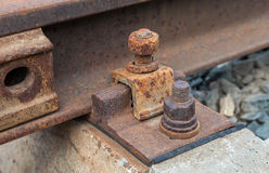 Detail of railway track Stock Photography