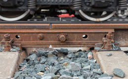 Detail of railway track Stock Photos