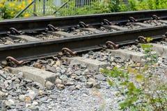 Railway track - railroad landscape Stock Image