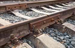 Detail of railway track Stock Photo