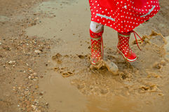 Detail of rainboots Royalty Free Stock Photography