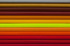 Detail of rainbow  colorful Pencil on the desk Stock Photo