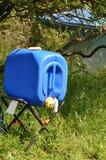 Rainwater barrel tap. Detail of rainwater barrel tap Royalty Free Stock Photos