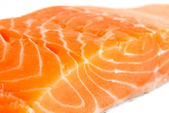Detail of raw salmon, with selective focus Royalty Free Stock Photo
