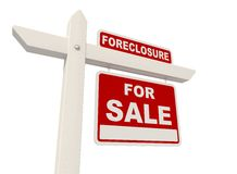 Detail of real estate sign. Isolated on White - rendering Royalty Free Stock Photos