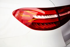 Detail on the rear light of a car Stock Photo