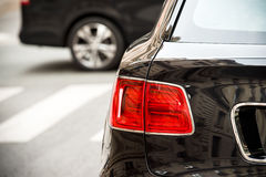 Detail of a rear red light of a luxury SUV Stock Photography