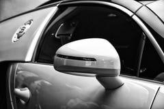 Detail (rear view mirror) of a Bugatti Veyron EB 16.4 royalty free stock images