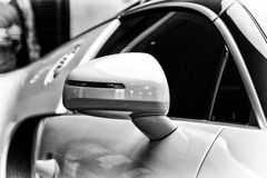 Detail (rear view mirror) of a Bugatti Veyron EB 16.4 Royalty Free Stock Images