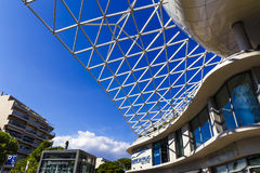 Detail of the recently built Palais des congres building in Anti. ANTIBES, FRANCE - September 22th, 2016: Detail of the recently built Palais des congres royalty free stock photography