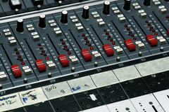 Detail from a recording studio Stock Photography