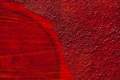 Detail of a red artistic wall structure Royalty Free Stock Images